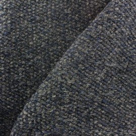 Wool knit fabric - blue grey x 10cm