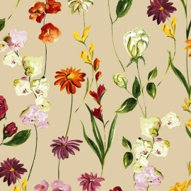Tissu toile de coton Quintessence fond ficelle X 62 cm