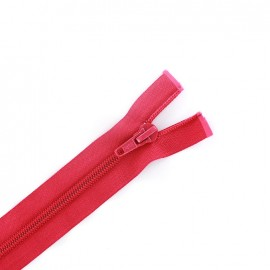 Separating zipper 6 mm - fuchsia