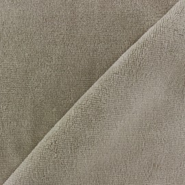 Micro Bamboo Towel fabric - linen x 10cm