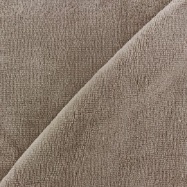 Tissu éponge Bambou taupe x 10cm