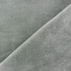 Tissu éponge Bambou gris x 10cm