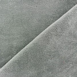 Tissu Micro-éponge Bambou - gris x 10cm