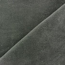 Tissu Micro-éponge Bambou - gris anthracite x 10cm