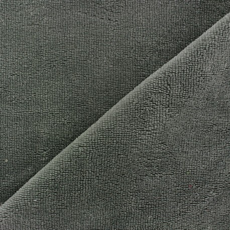 Bamboo Towel fabric - anthracite x 10cm
