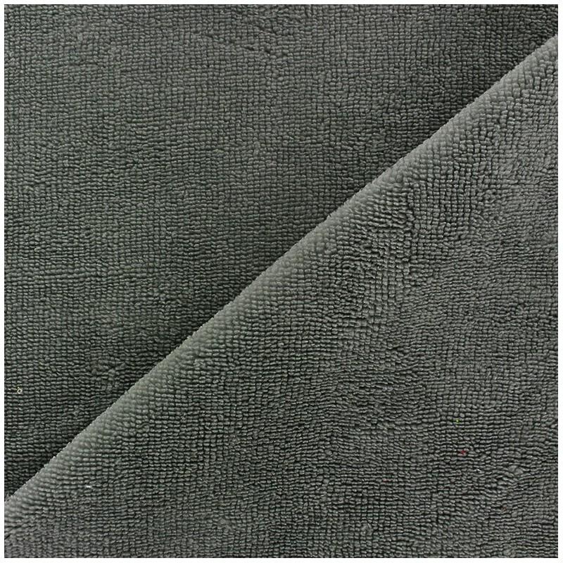 Tissu ponge bambou gris anthracite x 10cm ma petite mercerie - Tissu gris anthracite ...