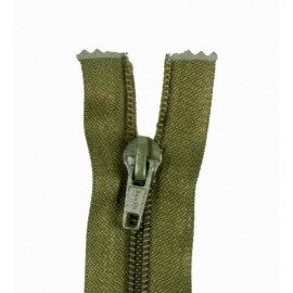 Thin Separating nylon zipper 5 mm - dark khaki