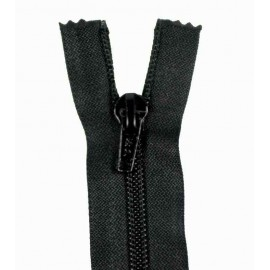 Thin Separating nylon zipper 5 mm - black