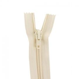 Fermeture Eclair® SEPARABLE nylon fine 5 mm - blanc cassé
