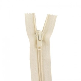 Thin Separating nylon zipper 5 mm - off white