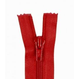 Fermeture Eclair SEPARABLE nylon fine 5 mm - rouge sang