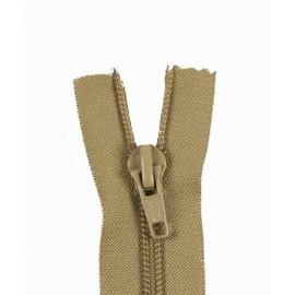 Fermeture Eclair SEPARABLE nylon fine 5 mm - beige moyen