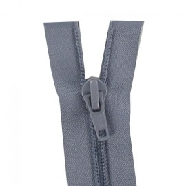 Thin Separating nylon zipper 5 mm - dark grey