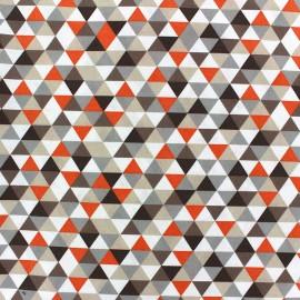 Tissu coton Trimix taupe/orange x 10cm