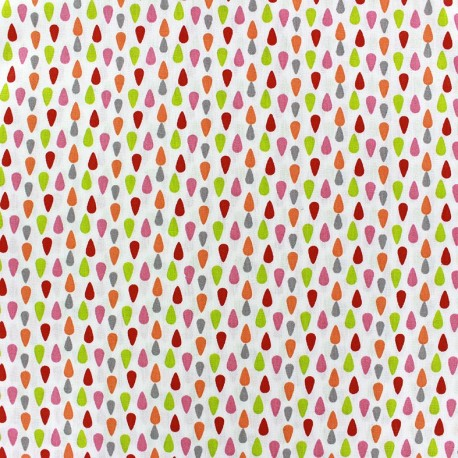 Plumi cotton fabric - pink/lime x 10cm