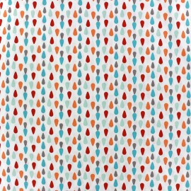 Plumi cotton fabric - turquoise/red x 10cm