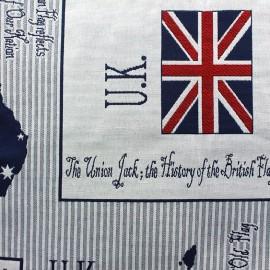 Tissu Flags x 54cm