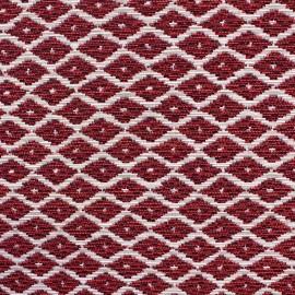 Woven Jacquard Jakarta ikat little diamonds fabric - fuchsia x 10cm