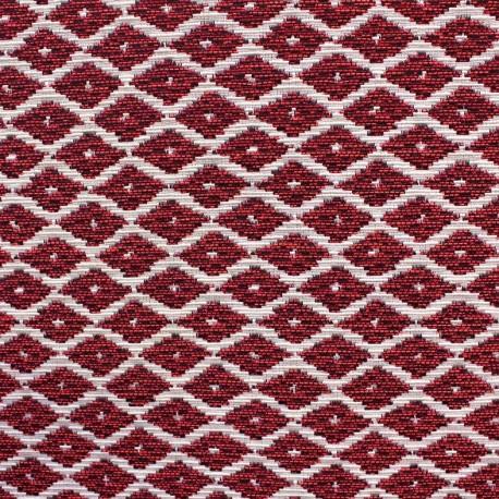 Jakarta ikat little diamonds fabric - fuchsia x 10cm