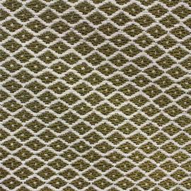 Woven Jacquard Jakarta ikat little diamonds fabric - gold x 10cm