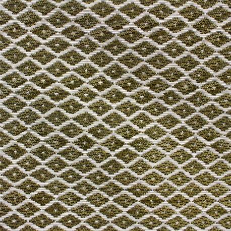 Jakarta ikat little diamonds fabric - gold x 10cm