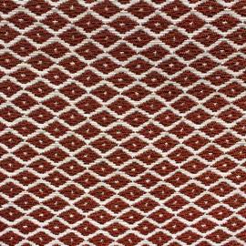 Tissu Jacquard tissé Jakarta petit losange ikat cuivre x 10cm