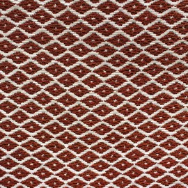 Woven Jacquard Jakarta ikat little diamonds fabric - copper x 10cm