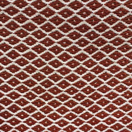 Jakarta ikat little diamonds fabric - copper x 10cm