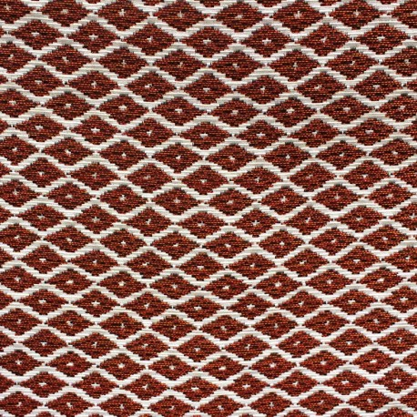 Jakarta ikat little diamonds fabric - copper x 10cm