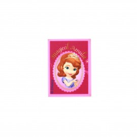 Sofia the First  Magical Amulet canvas Iron-on patch  - pink