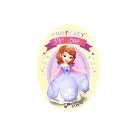 Sofia the First Properly Princesses oval-shaped canvas Iron-on patch  - ecru