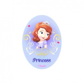 Sofia the First Love oval-shaped canvas Iron-on patch  - purple