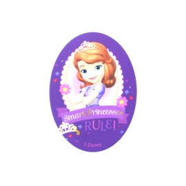 Sofia the First Smart Princesses oval-shaped canvas Iron-on patch - purple
