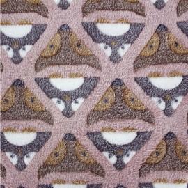 Tissu Doudou Fox rose x 10cm