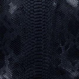 Simili cuir Comodo bleu nuit x 10cm