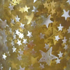 Starry Canvas Fabric - Gold x 1m