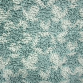 Long haired Baby's Security Blanket fabric Stars - seagreen/opaline x 10cm