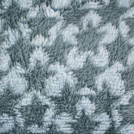 Tissu Doudou à poils longs Stars bleu/ciel x 10cm