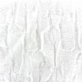Fourrure Cuddle blanc x 10cm
