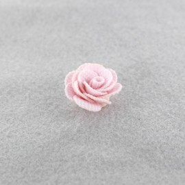 Camélia à coller/ coudre rose pâle