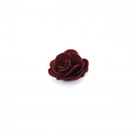 Camellia to glue/to sew - garnet red