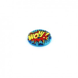 "Bouton Pop Art ""WOW!"""
