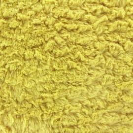 Fourrure fantaisie mungo moutarde x 10cm
