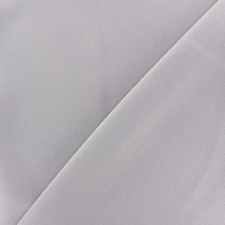 Crepe with satin reverse side Fabric - light grey x 10cm