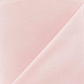 Tissu crêpe envers satin rose x 10cm