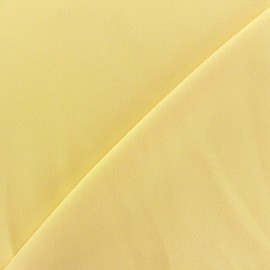 Crepe with satin reverse side Fabric - light yellow x 10cm