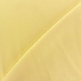 Tissu crêpe envers satin jaune clair x 10cm