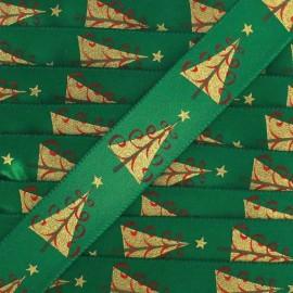 Ruban satin Sapin de Noël vert