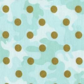 "♥ Coupon 70 cm X 110 cm ♥ Fabric Dear Stella ""Glamo Camo"" - Mint"
