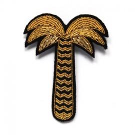 """Broche brodée """"palmier"""" doré - Macon & Lesquoy"""